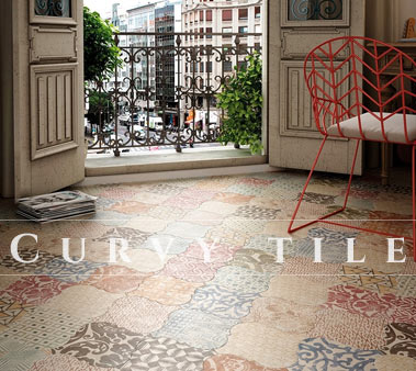 Porcelain Floor And Wall Curvytile Series